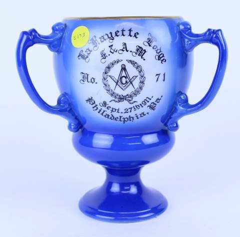 1911 LAFAYETTE LODGE NO.71 PHILADELPHIA PA TANKARD LOVE CUP