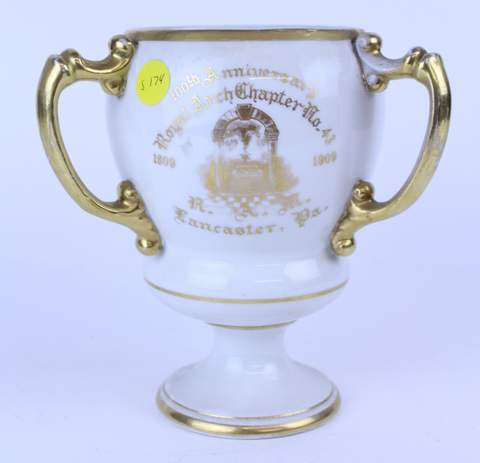 1909 ROYAL ARCH CHAPTER 13 LANCASTER PA TANKARD LOVE CUP