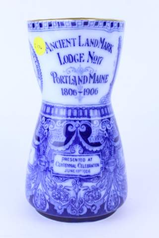 1906 ROYAL DOULTON ANCIENT LANDMARK LODGE NO.17 PORTLAND MAINE PITCHER