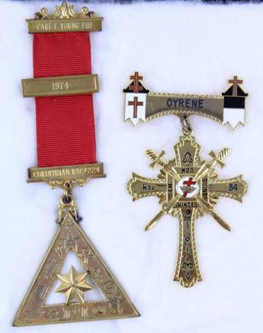 PAIR OF ANTIQUE MASONIC MEDALS
