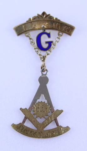14K GOLD TUSCAN LODGE NO.6 1929 C.L. SMITH MEDAL / JEWEL