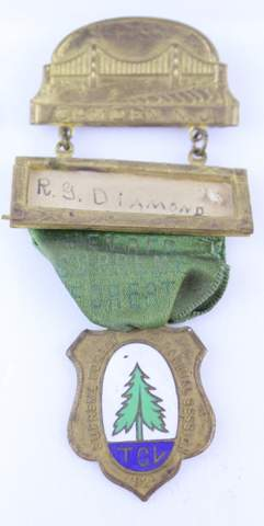 1924 R.G. DIAMOND TALL CEDARS OF LEBANON JEWEL