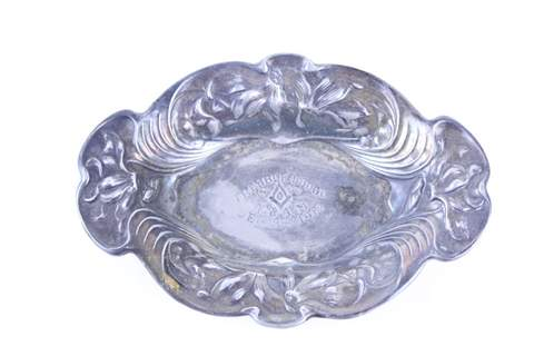 1912 TRIMBLE LODGE NO.117 SILVER PLATE CANDY DISH