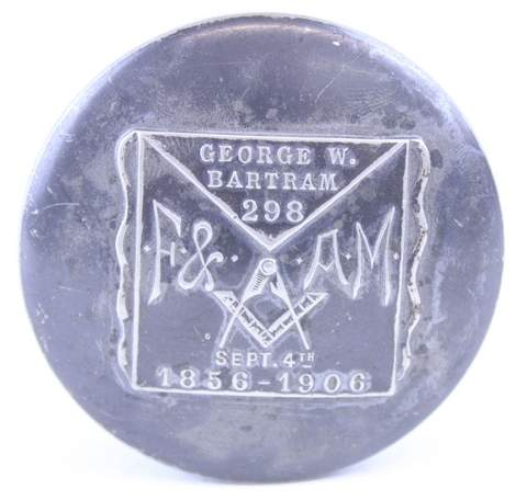 1906 GEORGE BARTAM NO.298 QUADRAPLATE POWDERBOX