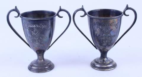PAIR OF 1903 KENSINGTON LODGE TROPHIES
