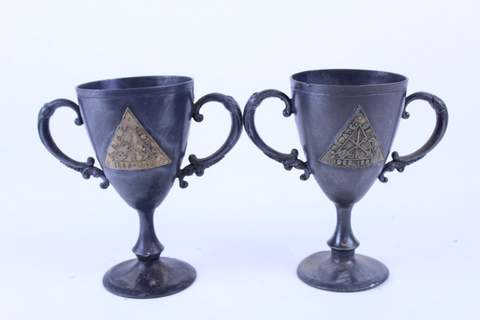 PAIR OF MASONIC TROPHIES 1856-1903