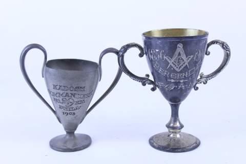 PAIR OF MASONIC TROPHIES 1903 & 1906