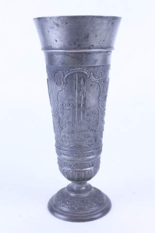 1905 MELITA LODGE NO.295 METAL FLOWER VASE