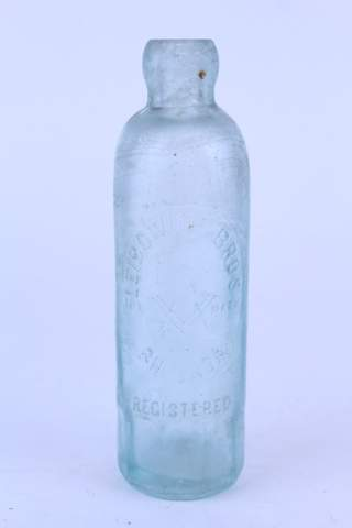 ANTIQUE LEIBOWICH BROS PHILADELPHIA PA CLEAR MASONIC BOTTLE