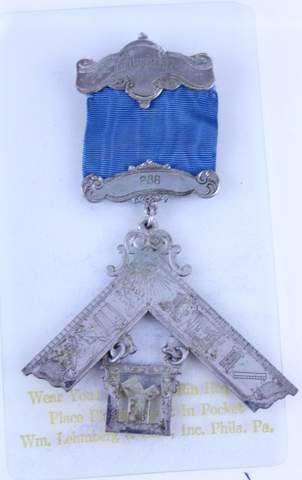 ANTIQUE MASONIC MEDAL BADGE