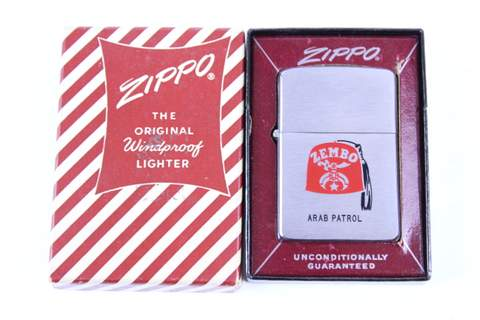 VINTAGE ZEMBO ARAB PATROL LIGHTER UNUSED MINT IN BOX