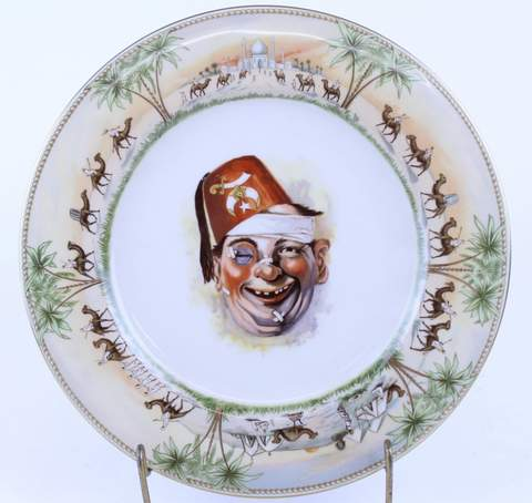 ANTIQUE SHENANGO CHINA MASONIC RAJAH SHRINER PLATE