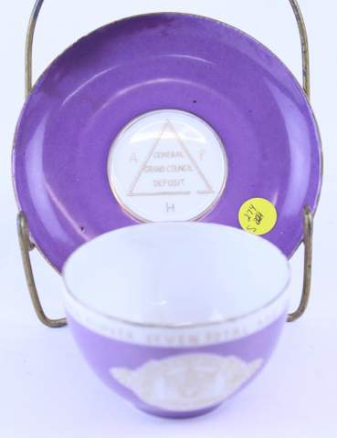 1894 APH GENERAL GRAND COUNCIL DEPOST CUP & SAUCER