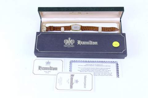 UNUSED MASONIC HAMILTON WRISTWATCH LODGE NO.496 LE 008/1000 MIB