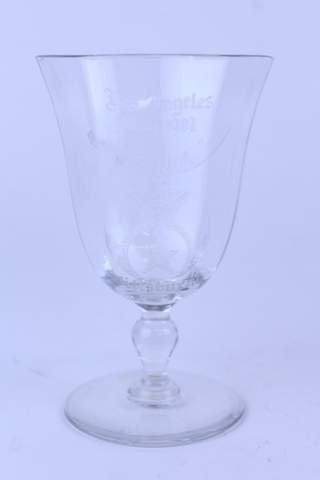 1907 LOS ANGELES ETCHED STEM GLASS