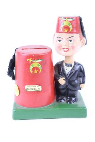 ANTIQUE RAJAH SHRINER BOBBLEHEAD NODDER BANK