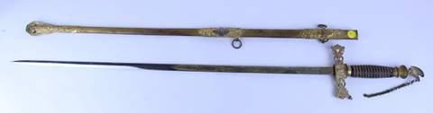 ANTIQUE KNIGHTS OF TEMPLAR SWORD W/ SHEATH