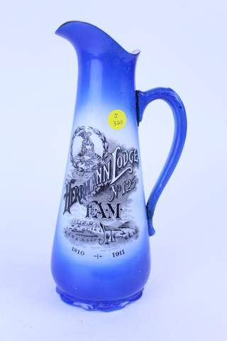 1911 HERRMANN LODGE PITCHER EWER