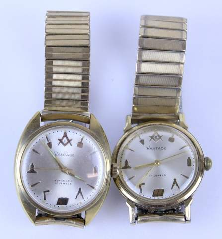 2) VANTAGE 17 MASOINC WRISTWATCHES