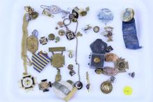 MASONIC MEDALS PINS BUTTONS