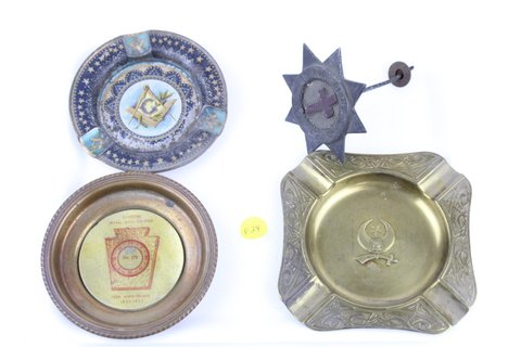 MASONIC ASHTRAY AND STAR MARKER