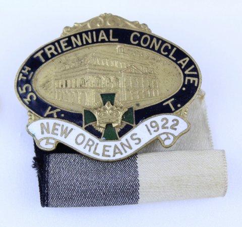 TRIENNIAL CONCLAVE KNIGHTS TEMPLAR 1922 MEDAL