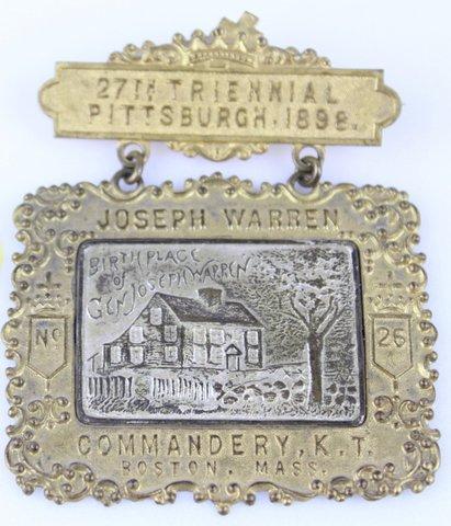 27TH TRIENNIAL PITTSBURGH 1898 MEDAL PIN