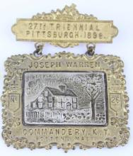 27TH TRIENNIAL PITTSBURGH 1898 MEDAL PIN