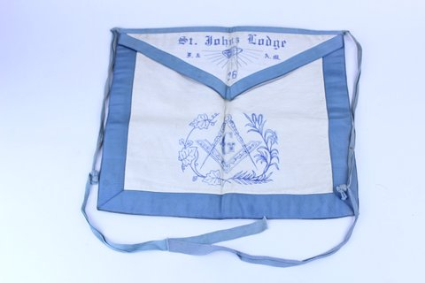 ST. JOHNS LODGE #26 MASONIC CEREMONY APRON