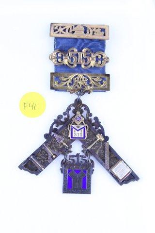 OSCEOLA LODGE 515 RO JACKSON MEDAL 1889