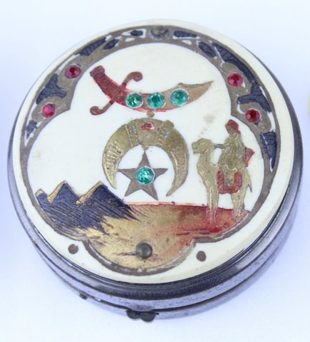 RAJAH SHRINER COMPACT TIN