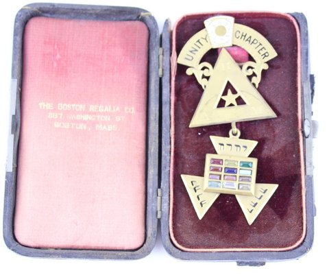 UNITY CHAPTER MEDAL JOHN WOODS 1895