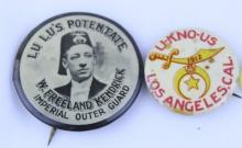 PAIR OF RAJAH PINS 1912