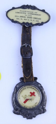 PILGRIMAGE OF LANCASTER COMMANDERY GRAND CONCLAVE WATCH FOB