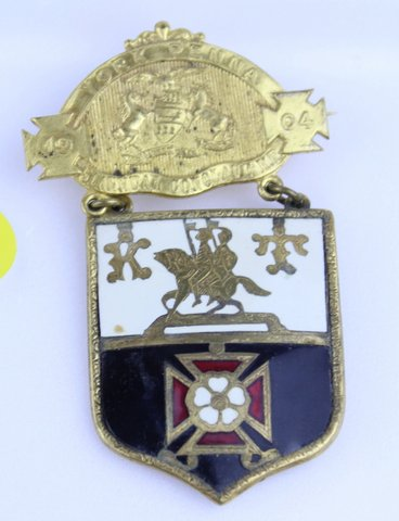 1904 YORK PA 51ST ANNUAL CONCLAVE KNIGHTS TEMPLAR PIN