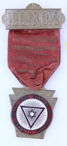 ILLINOIS 41ST TRIENNIAL CONVOCATION RIBBON PIN 1938