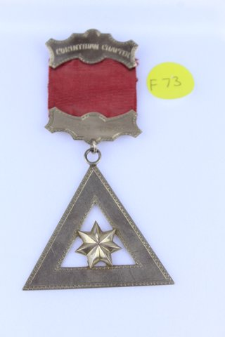 CORINTHIAN CHAPTER 224 FRANK SHANK HIGH PRIEST MEDAL 1938