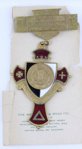 57TH ANNUAL CONCLAVE GRAND COMMANDERY PA MEDAL 1910