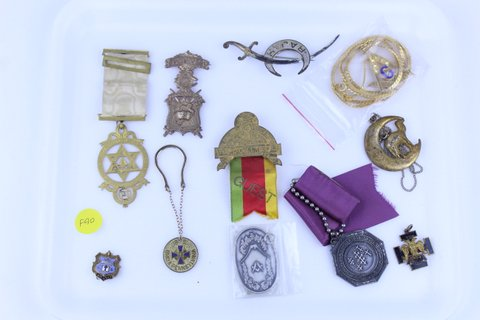 LOT OF MISC. MASONIC RAJAH MEDALS & PINS