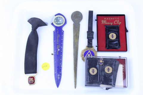 MASONIC LETTER OPENERS WATCH FOB & MONEY CLIPS