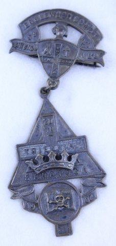 30TH TRIENNIAL SARATOGA PIN 1907