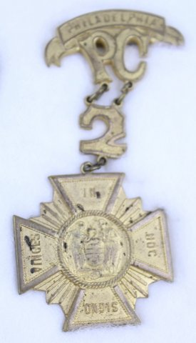 PHILADELPHIA PC 2 MEDAL PIN