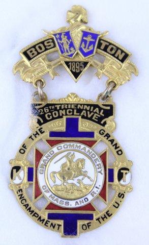 26TH TRIENNIAL CONCLAVE BOSTON MA MEDAL 1895