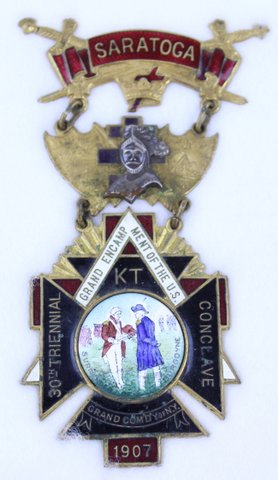 30TH TRIENNIAL CONCLAVE SARATOGA NY MEDAL 1907
