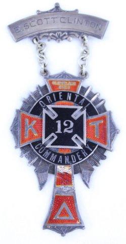 E. SCOTT CLINTON CLEVELAND OHIO ORIENTAL COMMANDERY K.T. 12
