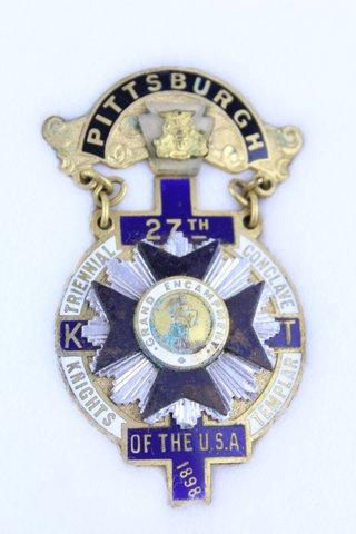 27TH TRIENNIAL CONCLAVE PITTSBURGH PA 1898
