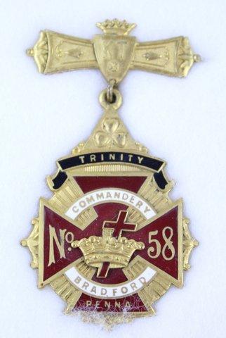 TRINITY COMMANDERY BRADFORD PA #58
