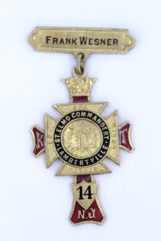 FRANK WESNER ST. ELMO COMMANDERY LAMBERTVILLE N.J.
