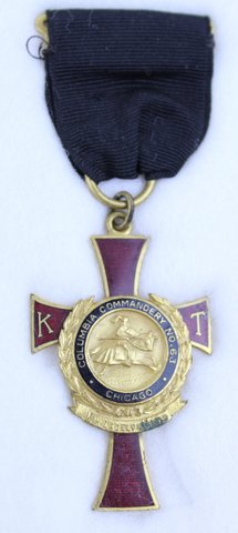 COLUMBIA COMMANDERY MEDAL #63