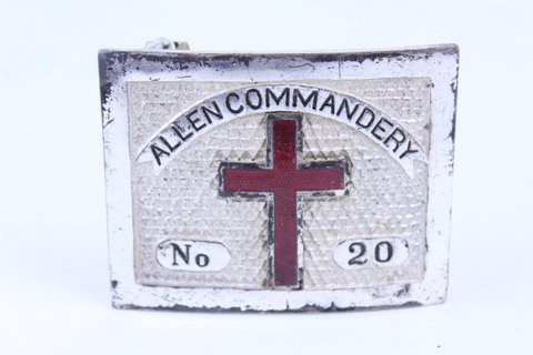 ALLEN COMMANDERY MASONIC K.T. #20 SWORD BELT BUCKLE
